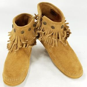 Minnetonka Ankle Boots Moccasin Womens Shoes